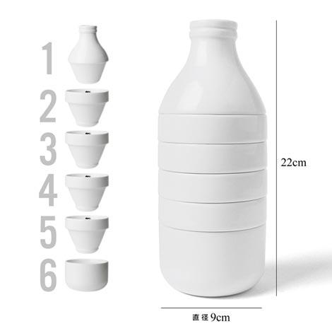 スタッキングでボトルになるカップとボウルのセット doiy(ドゥーアイワイ)WITHMILK(ウィズミルク)