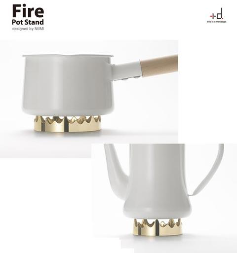 アッシュコンセプト「+d(プラスディー)」シリーズ Fire(ファイア) Potstand(ポットスタンド)