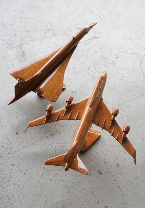 HEIM INDUSTRIA(ハイムインダストリア)WOODEN VEHICLE jumbo jet concorde(ウッドビークル ジャンボジェット&コンコルド)