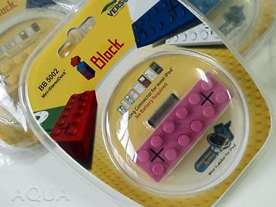 電源不要のブロック型iPod用スピーカー i Block(アイブロック)