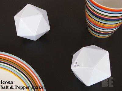 DUENDE(デュエンデ)正二十面体のソルト&ペッパー シェーカー 「icosa」