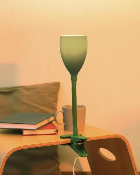 Ideaco(イデアコ)「GLASS clip lamp(グラス クリップランプ)」