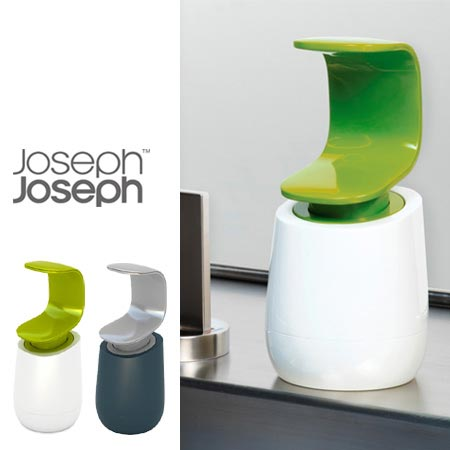C字型の片手でOKなソープディスペンサー Joseph Joseph C-ポンプ