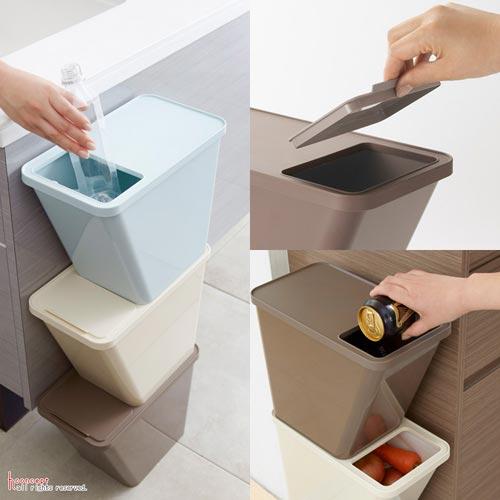 スタッキングできるコンパクトなゴミ箱kcud(クード)Stack Box(スタックボックス)
