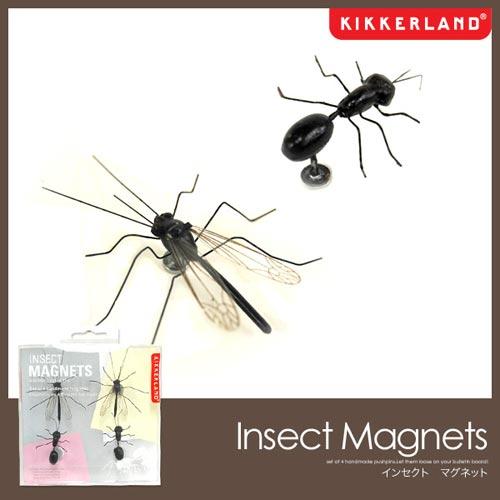 リアルすぎる昆虫のマグネット KIKKERLAND INSECT MAGNETS