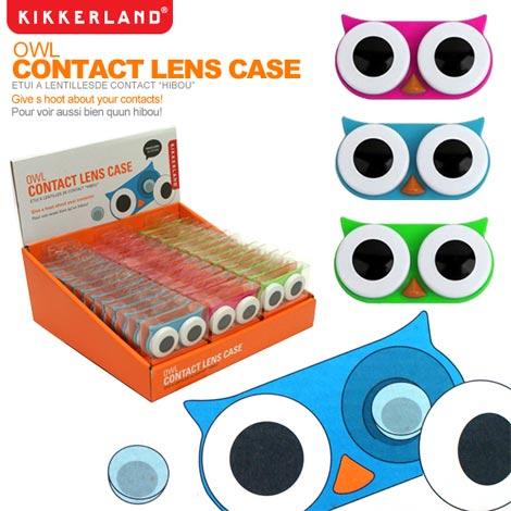 KIKKERLAND(キッカーランド)owl contact lens case(オウル コンタクトレンズケース)