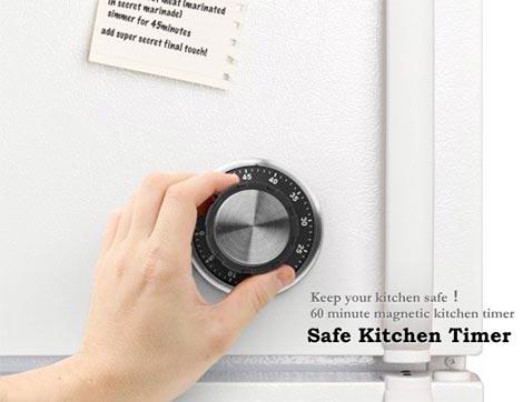 kikkerland(キッカーランド)Safe Kitchen Timer(セーフキッチンタイマー)