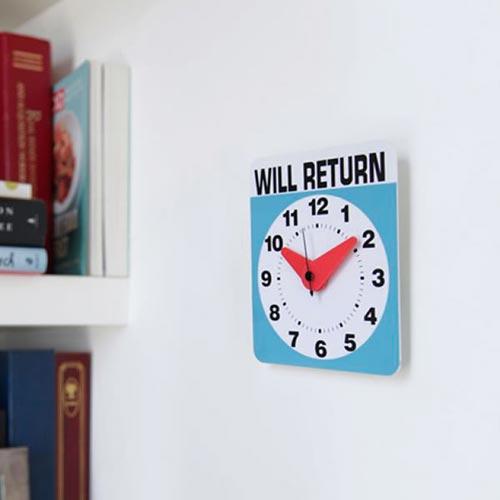 kikkerland(キッカーランド)Will Return Clock(ウィルリターンクロック)
