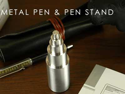 IDEA(イデア) メタルペン&ペンスタンド