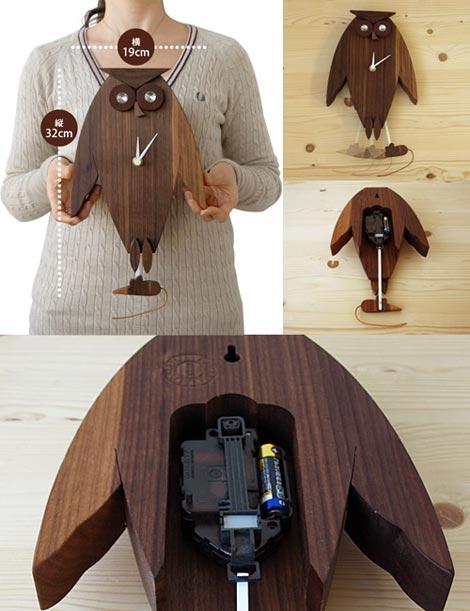 LEGNOMAGIA(レグノマジア)Owl Pendulum Clock(アウルペンデュラムクロック)