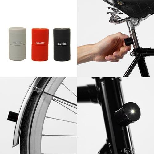 スマートで安全 自転車用マグネット式ライト palomar lucetta(ルセッタ)