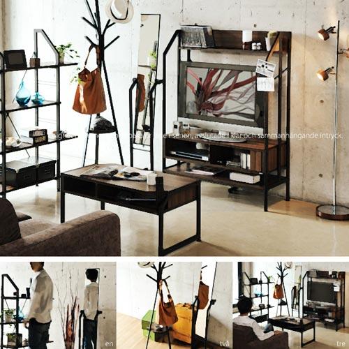 木とスチールが融合した北欧デザインのスタンドミラー Re・conte Rita Stand Mirror