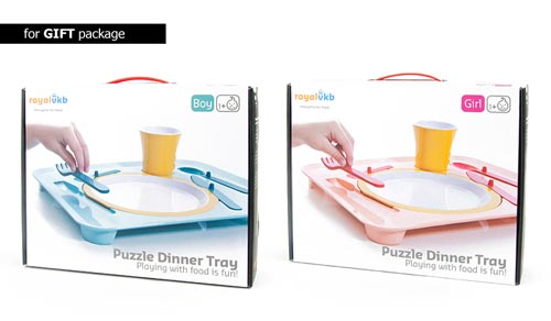 パズルのようなキッズカトラリーセット royal vkb puzzle dinner tray(パズルディナートレイ)