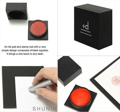 ワンランク上の朱肉&捺印マット アッシュコンセプトの「+d(プラスディー)」シリーズ「SHUNIK(シュニク)」