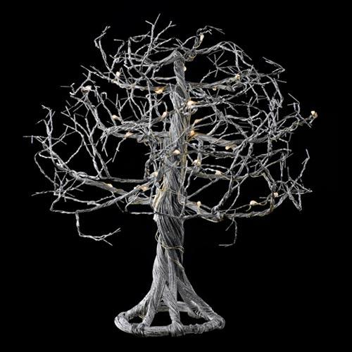 ワイヤー製で折り曲げ自在なLEDライト付きツリー SIRIUS TROLL SILVER 24L
