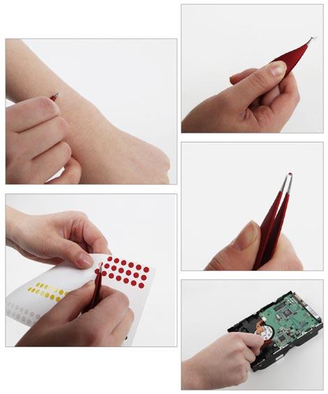 マイケルグレイヴスデザインの美しすぎるピンセット Slice Pointed Soft-Touch Tweezers