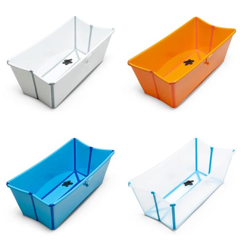 スタイリッシュでコンパクト収納も可能なベビーバス Stokke Flexi Bath