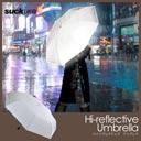 全面が反射材でできてる安全な傘 suckUK Hi-reflective umbrella