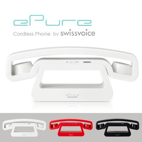 秀逸なフォルムのコードレス電話機 SwissVoice(スイスヴォイス)ePure(イーピュア)