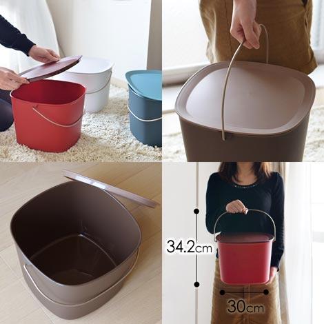 シックなカラーリングの多目的バケツ tidy(ティディ) Bucket(バケット)