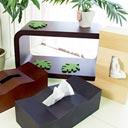 カクカク波打つ木製ティッシュケース カクカク nami