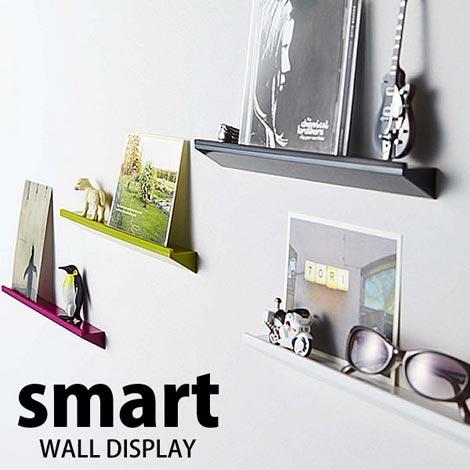 簡単に壁面ディスプレイできるミニシェルフ smart wall display