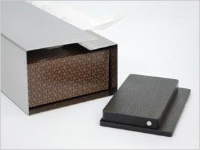 見た目も機能もスマート YAMASAKI DESIGN WORKS ティッシュボックス 拭き漆