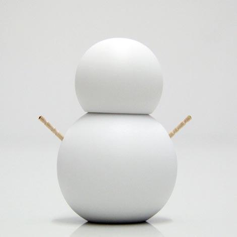 雪だるまのカタチをしたカワイイ楊枝入れ ceramic japan 楊枝だるま