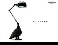 リアルな鳥の首から上はライト GOODY GRAMS BIRD LAMP
