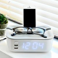 アラーム・充電・小物置き 1台3役の多機能時計 BRUNO オーバーナイターアラームクロック