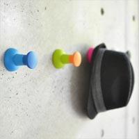 押しピンをそのまま大きくした押しピン型フック dci Push Pin Wall Hook