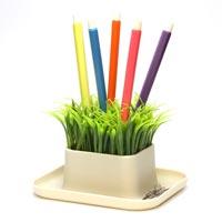 鉢植えのグリーンにペンを刺す GRASS PEN STAND