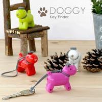 鍵の場所を鳴き声とLEDで知らせる犬型キーホルダー DOGGY Key Finder