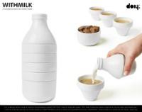 スタッキングでボトルになるカップとボウルのセット doiy WITHMILK