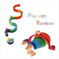 でっかい虹の積み木 Grimm's Rainbow Stacker L