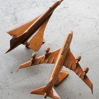 かなり本格的な木製ジャンボジェット&コンコルドのオブジェ HEIM INDUSTRIA WOODEN VEHICLE jumbo jet concorde
