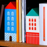 ヨーロッパのお家をモチーフにしたブックエンド HIGHTIDE HOUSE BOOKEND