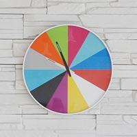 すべてがフラットにデザインされた超薄ウォールクロック karlsson Ultra Flat Wall Clock Multi Color