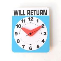 何時に戻って来るかはわからない時計 kikkerland Will Return Clock