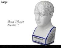 ちょっと不気味なヘッドオブジェクト KRAFTRIPS Phrenology