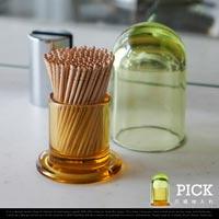 2色のガラスで作られたスタイリッシュな爪楊枝入れ magnet Pick