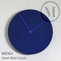 限界まで装飾を省いたデザインが美しいウォールクロック menu Steel Wall Clock