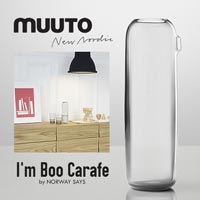吹きガラスでできた美しいカラフェ MUUTO I'm BOO Carafe