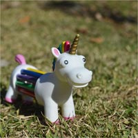 ユニコーンの胴体が色鉛筆になってる色鉛筆10色セット npw Unicorn pencil holder
