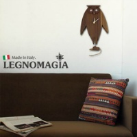 LEGNOMAGIA Owl Pendulum Clock