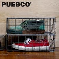 ワイヤータイプで積み重ねできるシューズボックス PUEBCO Shoes Box