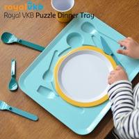 パズルのようなキッズカトラリーセット royal vkb puzzle dinner tray