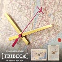 地図の上を飛行機が旅する時計 TRIBECA PICTURE CLOCKS