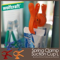 クリップ+吸盤で超便利! Wolfcraft SPRING CLAMP SUCTION CUP